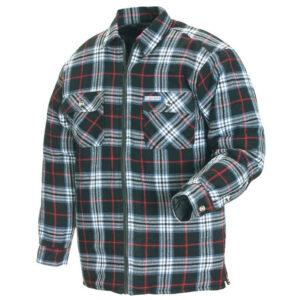 Svart/Vit/Röd Fodrad Flanellskjorta Blåkläder