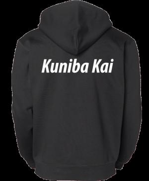 Kuniba Kai Svart Basic Hoodtröja Baksida