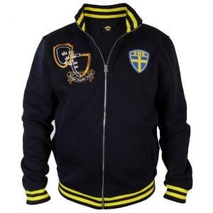 Marinblå/Gul Collegejacka Sverige