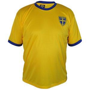Gul/Blå Svensk Fotbollströja