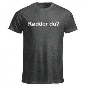 Mörkgrå T-shirt Kødder du? SKAM