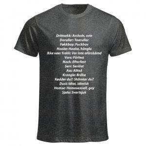 Mörkgrå T-shirt Ordlista SKAM