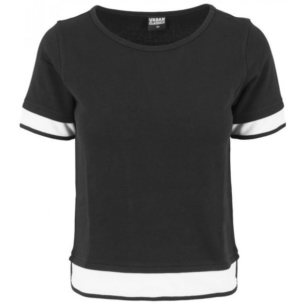 Svart/Vit T-shirt Terry Mesh Kontrast UC