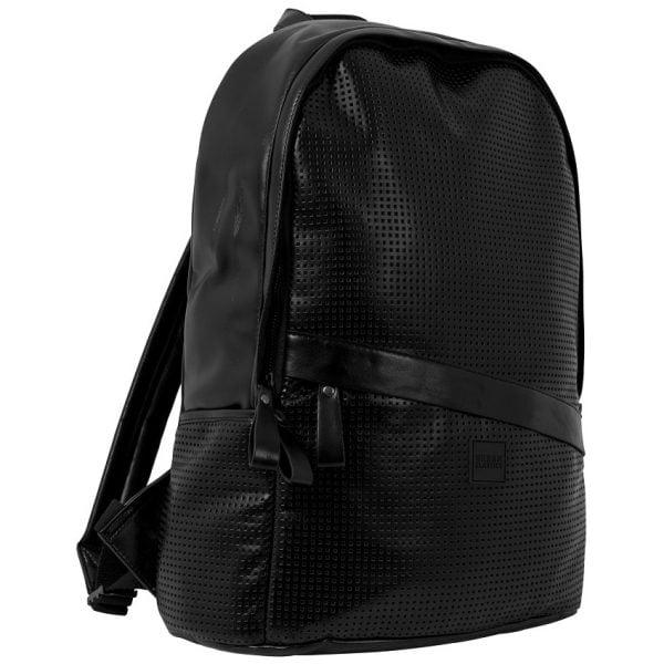 Svart Ryggsäck Perforerad Läder UC