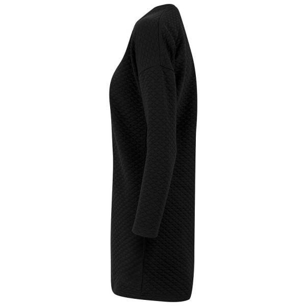 Svart Klänning Oversize Quilt UC
