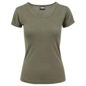 Olivgrön T-shirt Viskos Basic UC