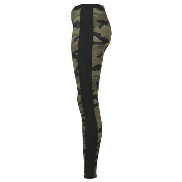 Olivgrön/Svarta Leggings Camo Stripe UC