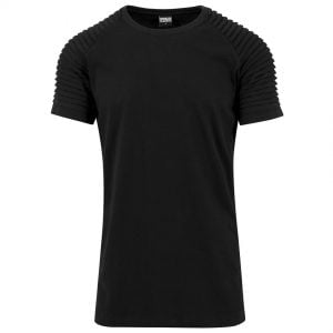 Svart Lång T-shirt Pleat Raglan UC