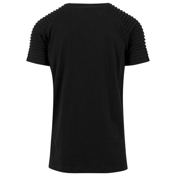 Svart Lång T-shirt Pleat Raglan UC