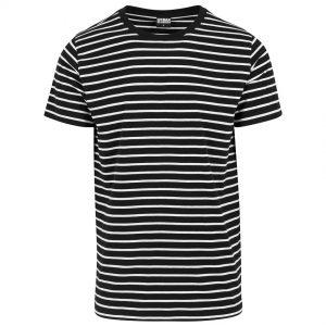 Svart/Vit Finrandig T-shirt UC