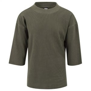 Olivgrön T-shirt Thermal Waffle 3/4 Ärm UC