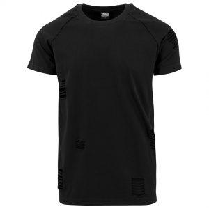 Svart Uppriven T-shirt UC