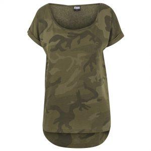 Olivgrön Camo T-shirt Lång Baksida UC