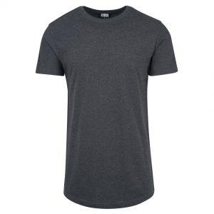 Svart Melerad Lång T-shirt Shaped UC