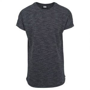 Svart Lång T-shirt Space Dye UC