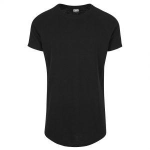 Svart Lång T-shirt Thermal Slub Raglan UC