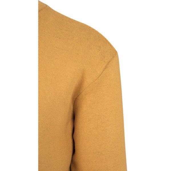 Gul Stickad Collegetröja Texture UC