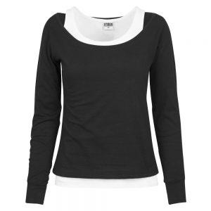 Svart/Vit Långärmad T-shirt 2 Lager UC