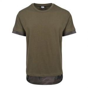 Olivgrön Lång T-shirt Camo Inset UC