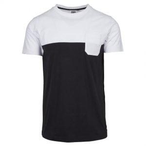 Svart/Vit T-shirt med Bröstficka Color Block UC