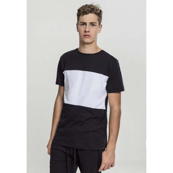 Svart/Vit T-shirt Contrast Panel UC