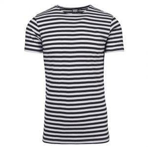 Svart/Vit Randig T-shirt UC