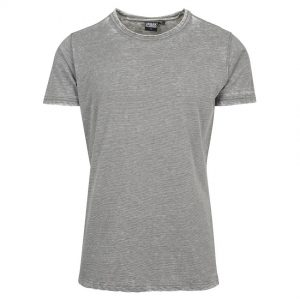 Grå T-Shirt Burn Out Stripe UC