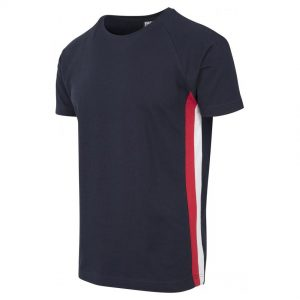 Marinblå/Röd/Vit T-shirt Side Stripe UC