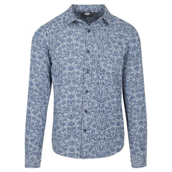 Ljusblå Jeansskjorta Flower UC