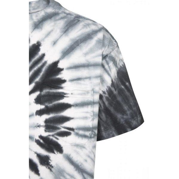 Svart/Grå/Vit T-shirt Spiral Tie Dye UC