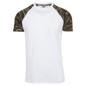 Vit/Brun Camo T-Shirt Raglan UC