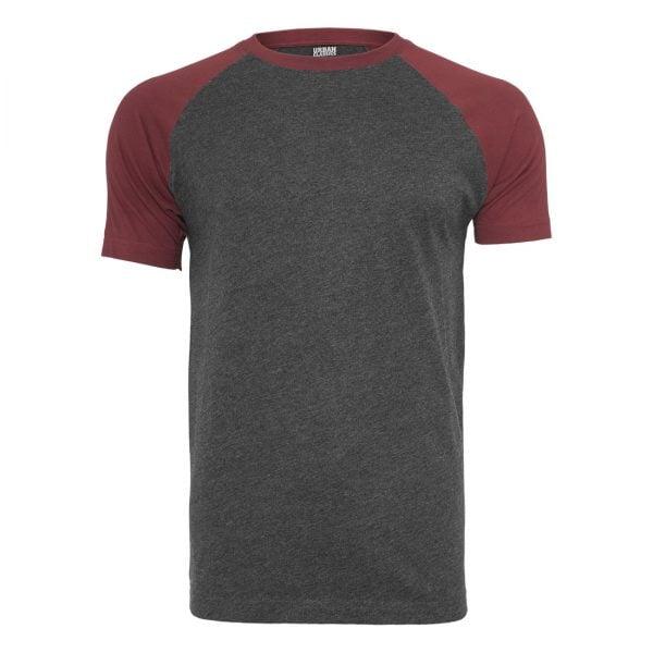 Mörkgrå/Mörkröd T-Shirt Raglan UC
