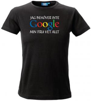 Svart Min Fru Vet Allt T-shirt
