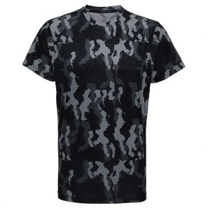 Mörkgrå Camo Funktions T-shirt Hexoflage