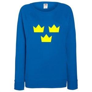 Royalblå Tre Kronor Sweatshirt Raglan