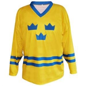 Gul/Blå Tre Kronor Hockeytröja