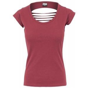 Vinröd T-shirt Ryggbeskuren UC