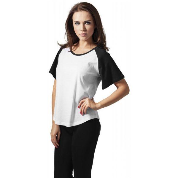 Vit/Svart T-shirt HiLo Raglan UC