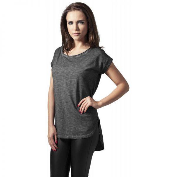 Mörkgrå T-shirt Lång Baksida Spray Dye UC