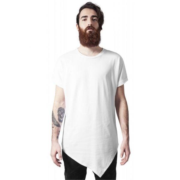Vit Lång Asymmetrisk T-shirt UC