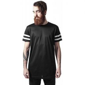 Svart/Vit Lång T-Shirt Stripe Mesh UC