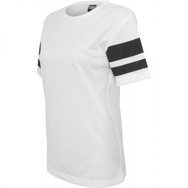 Vit/Svart T-shirt Stripe Mesh UC