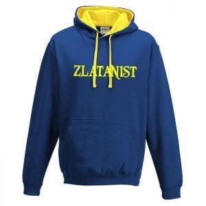 Blå/Gul Zlatanist Hoodtröja Zlatan